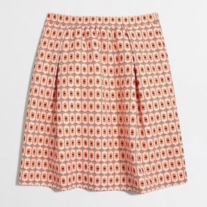 J.Crew Jacquard Printed Pocket Skirt